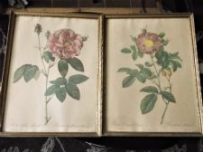 PAIR VERY OLD GILT FRAMED GLAZED REIMOND PRINTS ROSIER PROVINS & PORTLAND